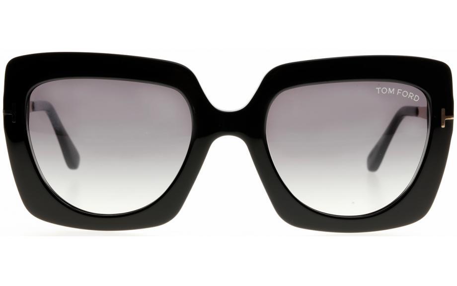 Tom Ford JASMINE-02 FT 0610 black//grey shaded Sunglasses 01B A